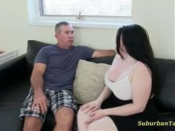 Stepmom and stepdaughter fucking with stepdad