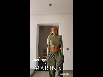 Marine El Himer (Les marseillais) spandex haul insta stories