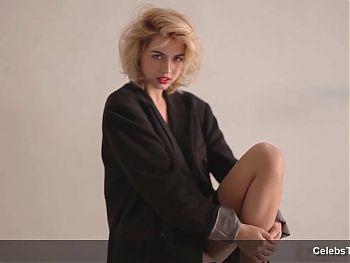 Ana de Armas see through and shows sexy body