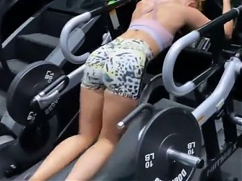 Danielle Moinet exercising her amazing legs and firm ass