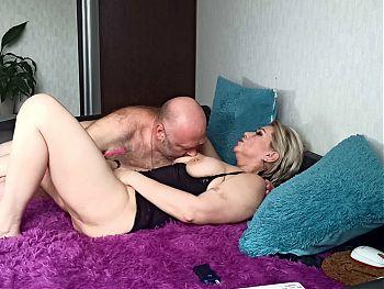 Mature couple: Hot POV closeup fucking and big tits bouncing