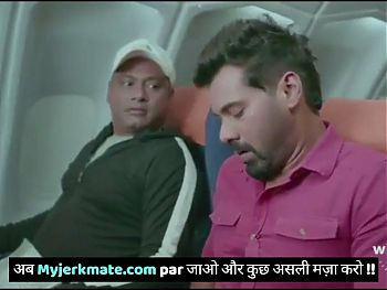 Indian flight attendant gets fucked by Bollywood Actress in plane